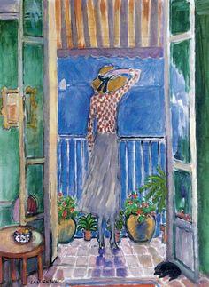 Jean Pierre Cassigneul, Femme au balcon, Nice