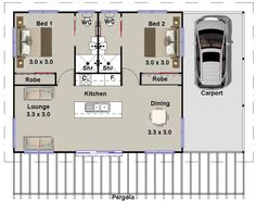 1 and 2 Bedroom house plans BOOK – Small Houses & Granny Flats Design Book – house plans, small house plans, house plans australia – Farmhouse Ideas House Plans For Sale, Small House Floor Plans, Little House Plans, Granny Pod, Br House, Tiny House Cabin, Cabin Homes, 2 Bedroom House Plans, Garage House Plans