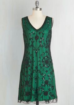 Bead It Dress in Emerald. Theres no going wrong in this beautiful embellished dress! #green #prom #modcloth