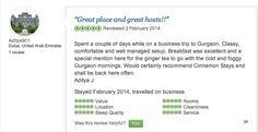 Aditya from Dubai - found us cosy & comfortable on his business trip to Gurgaon.