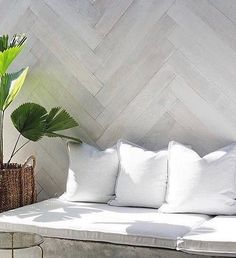 Favourite for the terrace. Herringbone wall. Created by @mon_palmer