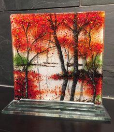 Fused Glass art handmade fused glass panel fused by jwcalgary