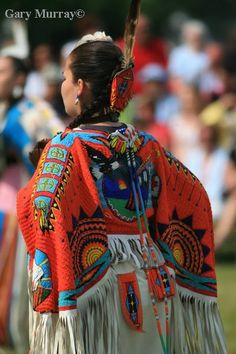 Fully beaded Northern Traditional dancer