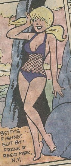 from Archie's Girls Betty and Veronica # 286 Archie Comics Strips, Female Cartoon Characters, Betty And Veronica, Classic Comics, Comics Girls, Erotic Art, Funny Comics, Comic Strips, Old Photos