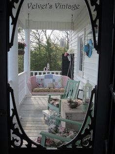 Beautiful porches....can be recreated with newer homes....but just not the same without the age and patina of an old home. I know because I live in a very old home with huge porches!