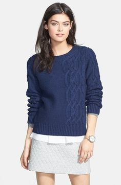 Hinge  Cable Knit Sweater available at #Nordstrom