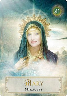 Goddess Power ~ Mary , Miracles 😇 TGISUN kita kits with team mates. Divine Mother, Mother Mary, Oracle Tarot, Oracle Deck, Doreen Virtue, Angel Cards, Divine Feminine, Sacred Feminine, Deck Of Cards