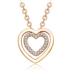 Valentine's Day Deal NEEMODA 'Eternal Love' 18K Rose Gold Plated Women's Heart Pendant Necklace with Austrian Crystal * Check out the image by visiting the link.