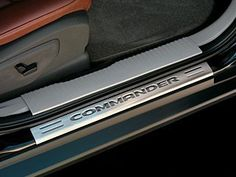 Jeep Commander Door Entry Guard Stainless steel, with Commander logo. Set of four (front & rear doors). For Jeep Commander 2006 - 2010. Authentic Mopar Accessory.  #Mopar #AutomotivePartsAndAccessories
