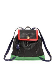Alexander McQueen Tricolor Skull Padlock Backpack - Bergdorf Goodman
