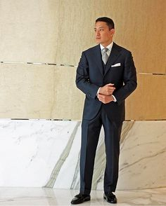 """thesignetstore - """"  A three-piece suit is the perfect garment to wear to a wedding or formal dinner that doesn't require you to be in black tie. . Get your own three-piece suit tailored by our tailors Sartoria Dalcuore and W.W. Chan & Sons. . Vintage pocket square by Simonnot-Godard. Black silk socks by Pantherella. Patent slippers by Farfalla. #bespoke #menswear #tailoring #mensfashion #mensstyle #weddingattire #weddingfashion #sartorial  """""""