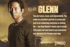 Glenn - Which 'Walking Dead' Character Are You? - Zimbio