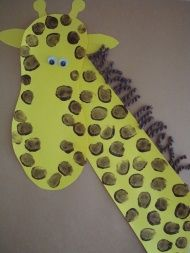 This Footprint Giraffe Collage is made from simple craft materials and is the perfect craft for older toddlers and preschoolers!