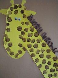 Super cute giraffe craft