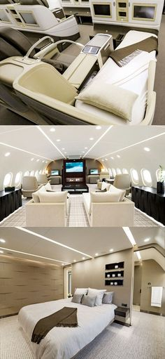 This Private Dreamliner Jet Could Serve as a Second Home #luxuryhelicopter