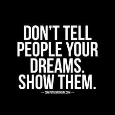 Action silences words. #motivation #success #goals