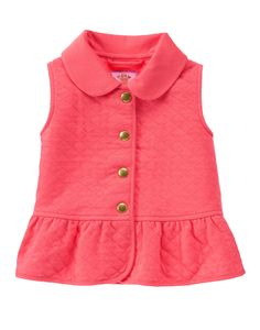 Coral Quilted Vest: woodland wonder collection