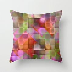 CHECKED DESIGN II-v6 Throw Pillow by Pia Schneider [atelier COLOUR-VISION] - $20.00 #abstract #art #checkeddesign #plaid #geometric #design #colourful #square #paiddesign #sqauredesing #digital #orange #pink #salmon #green #piaschneider #ateliercolourvision #home #decor #pillow #cushion