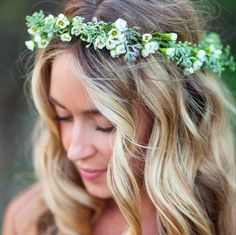 Wedding Day Crown by Quince Fine Florals, photo by Kelly Brown Photo