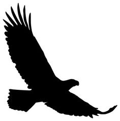 Wallmonkeys WM348679 Animal Silhouette Eagle Style 12 - Black Peel and Stick Wall Decals (12 in H x 12 in W)