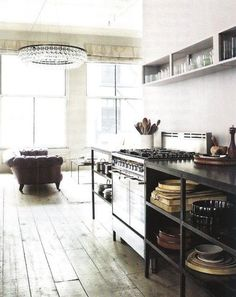 For Your Inspiration: 11 Stylish Industrial Kitchens | Apartment Therapy