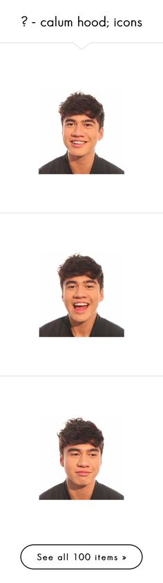 """☹ - calum hood; icons"" by clipperlmfao ❤ liked on Polyvore featuring calum, 5sos, calum hood, black&white, celebs, fillers, pictures, band babies, pics / people e icon pics"