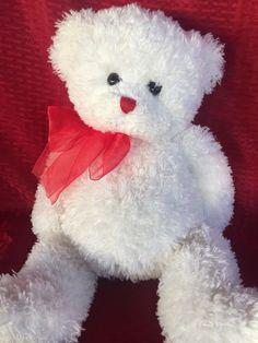 TY Hollibear Classic Plush Teddy Bear  Lovey White 19 Inch #Ty