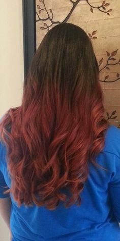 New hairstyle.  Dark brown to red ombre.  Thank you Lizeth from Lenas salon