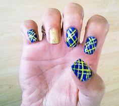 Nails for the #GoldenStateWarriors game! #NBA #NailArt
