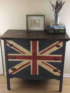 Clever painting idea on old dresser!