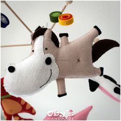 Felt horse, baby crib mobile