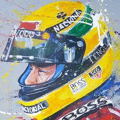 Ayrton Senna 02 Artwork by SeanWalesArt on Etsy