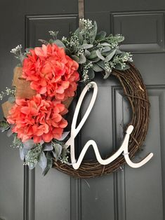 Excited to share this item from my #etsy shop: Spring Wreath for Front Door, Spring Wreath, Wreath for Front Door, Spring Wreaths for Front Door, Hydrangea Wreath, Spring Wreaths