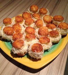 Sushi, Muffin, Breakfast, Ethnic Recipes, Food, Morning Coffee, Essen, Muffins, Meals