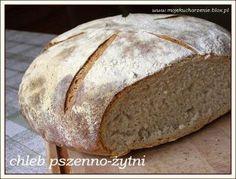 Zdjęcie: Chleb pszenno-żytni na zakwasie Bread Recipes, Pizza, Food, Essen, Bakery Recipes, Meals, Yemek, Eten