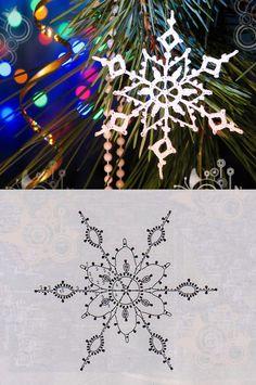 Diy Christmas Snowflakes, Snowflake Craft, Crochet Christmas Decorations, Snowflake Decorations, Crochet Decoration, Noel Christmas, Christmas Crafts, Crochet Snowflake Pattern, Christmas Crochet Patterns