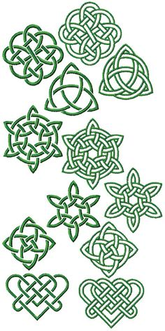 Celtic Knot Set Advanced Embroidery Designs - Celtic Knot Set<br> Set of 12 Machine Embroidery Designs Border Embroidery, Hand Embroidery Stitches, Embroidery Jewelry, Machine Embroidery Designs, Embroidery Ideas, Hand Stitching, Knitting Stitches, Embroidery Tattoo, Simple Embroidery
