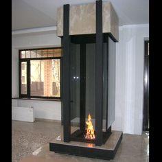 #fireplace island