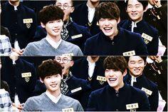 """Kim Woobin laugh  """"\(‾▿‾\)┌(_o_)┐(/‾▿‾)/┌(_o_)┐"""""""