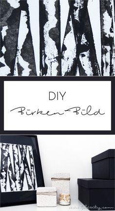 Birken malen leicht gemacht: Easy Peasy Birkenbild