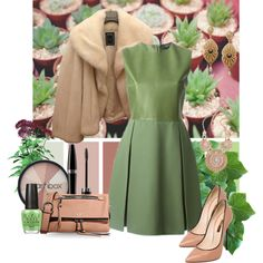 Green in november! by armband on Polyvore featuring polyvore, fashion, style, Gucci, Christian Dior, Casadei, Marc Jacobs, Smashbox, Mary Kay and OPI