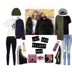 Jay and Silent Bob inspired outfits. #clerks #JayandSilentBob