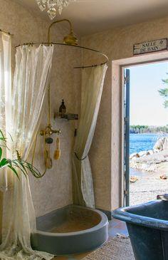 La douche au bord du lac