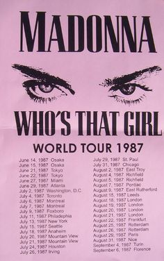 Madonna — Who's That Girl — World Tour 1987