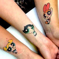Siblings Tattoo For 3, Disney Sister Tattoos, Matching Tattoos For Siblings, Cute Sister Tattoos, Sister Tattoo Designs, Bestie Tattoo, Matching Best Friend Tattoos, Matching Sister Tattoos, Sibling Tattoos