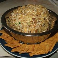 Bacon Ranch Cheese Ball Recipe Appetizers with bacon, cream cheese, buttermilk ranch salad dressing mix, shredded sharp cheddar cheese, green onions, black olives, chopped pecans