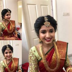 Shop Ultimate Gold Plated Pure Silver Earrings Collections Here! Bridal Hairstyle Indian Wedding, South Indian Bride Hairstyle, Indian Wedding Gowns, Bridal Hairdo, Indian Bridal Hairstyles, Indian Bridal Makeup, Indian Bridal Fashion, Indian Wedding Jewelry, Bridal Jewellery