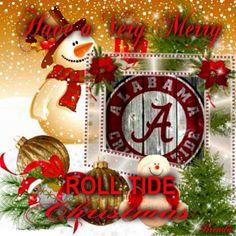 It's An Alabama Crimson Tide Christmas Merry Christmas Pictures, Merry Christmas To All, A Christmas Story, Alabama College Football, University Of Alabama, Crimson Tide Football, Alabama Crimson Tide, Alabama Baby, Football Crafts