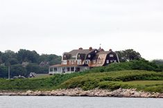 """Lindermanhouse at Fishes Iseland.  Here they filmed """"Garps world""""."""