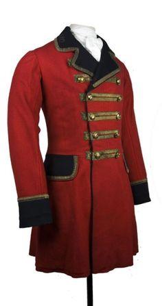 frock coat- a coat worn by men in the 1800's